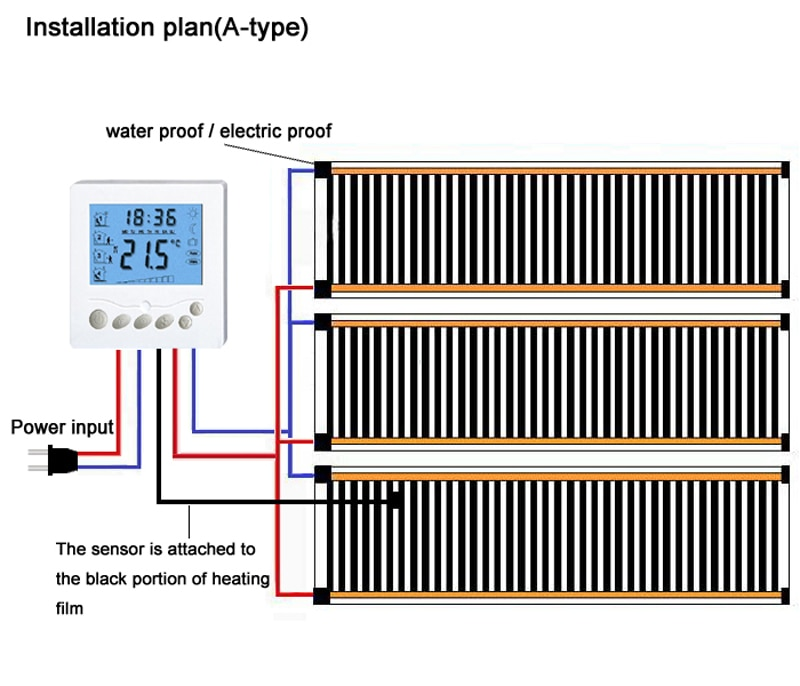 Heating film wiring plan A