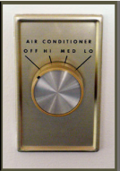 thermostat with radial dial.