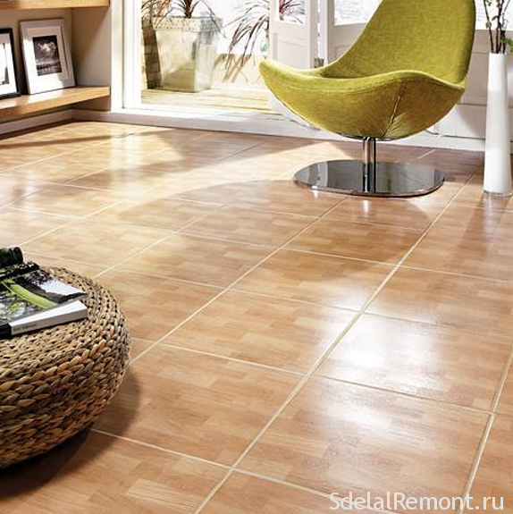 Types and methods of laying tile on the floor