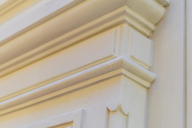 Close up of stucco molding background.  royalty free stock images