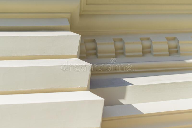 Stucco molding background. Architecture and design elements close up.  royalty free stock photography