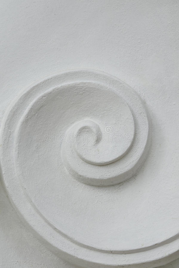Stucco. Painted white stucco curves Lanna style stock images