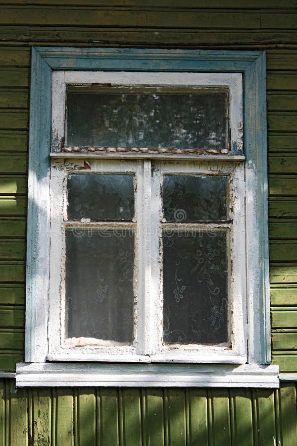 Window old wooden house royalty free stock photos